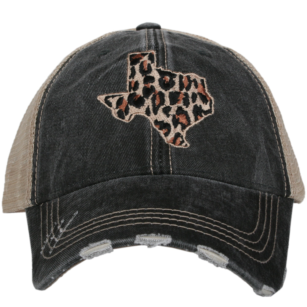 Katydid Leopard Texas CUT OUT STATE Wholesale Hats