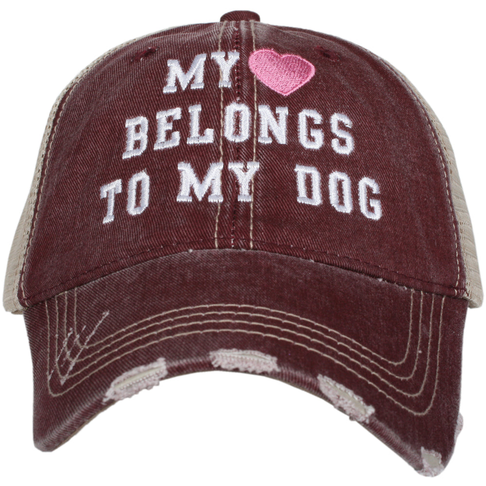 Katydid My Heart Belongs To My Dog Wholesale Trucker Hats