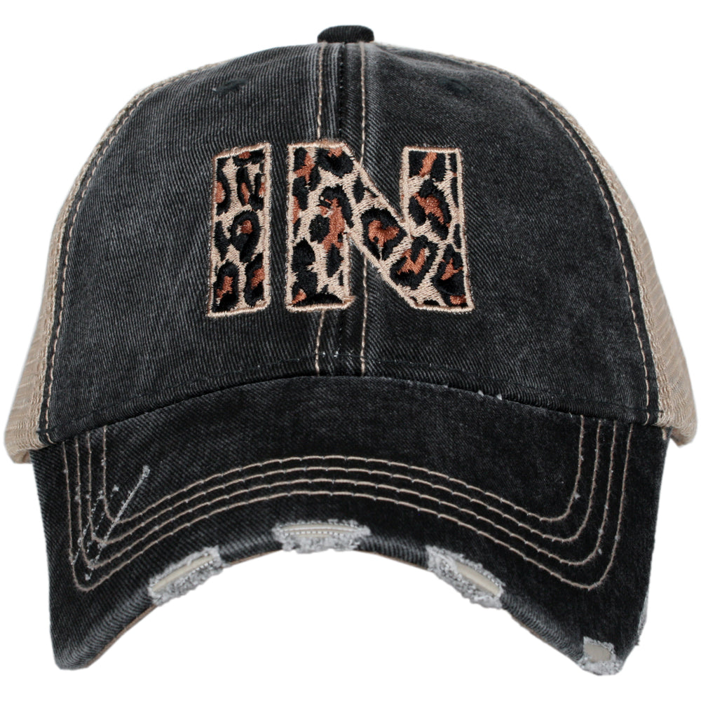 Katydid IN Leopard State Wholesale Hat
