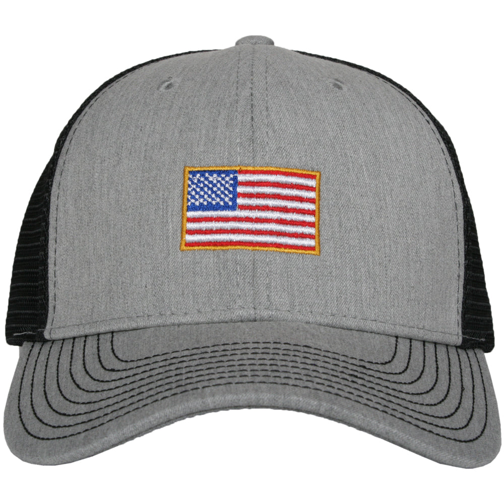 American Flag Men's Wholesale Trucker Hat