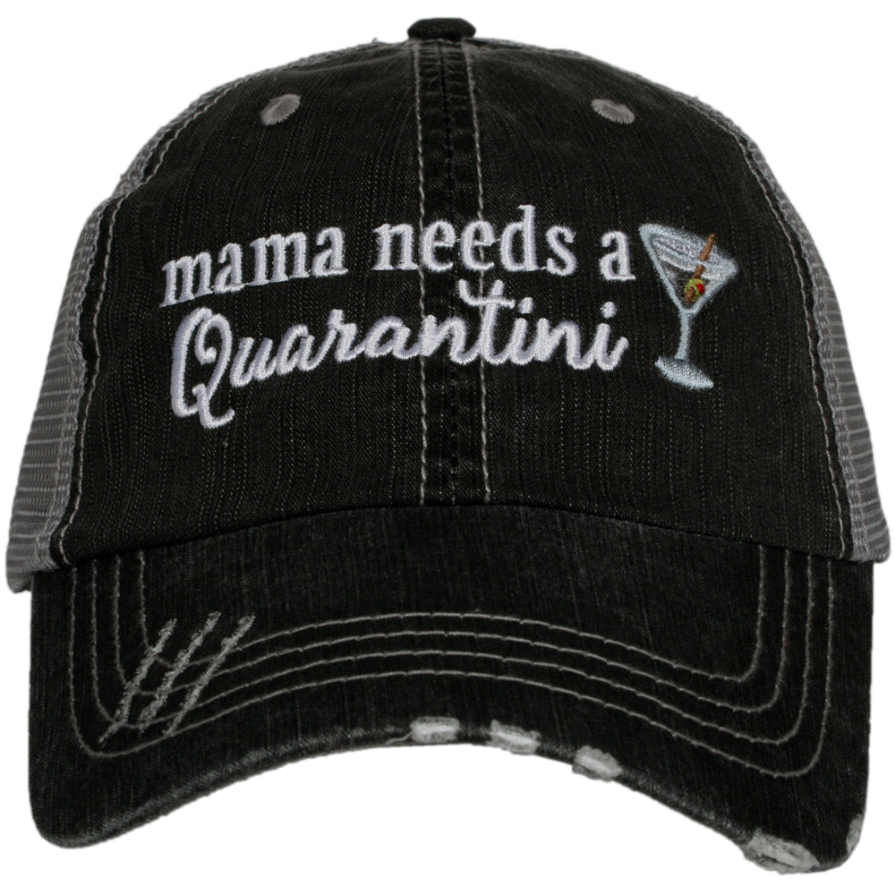 Katydid Mama Needs A Quarantini Wholesale Women's Trucker Hat