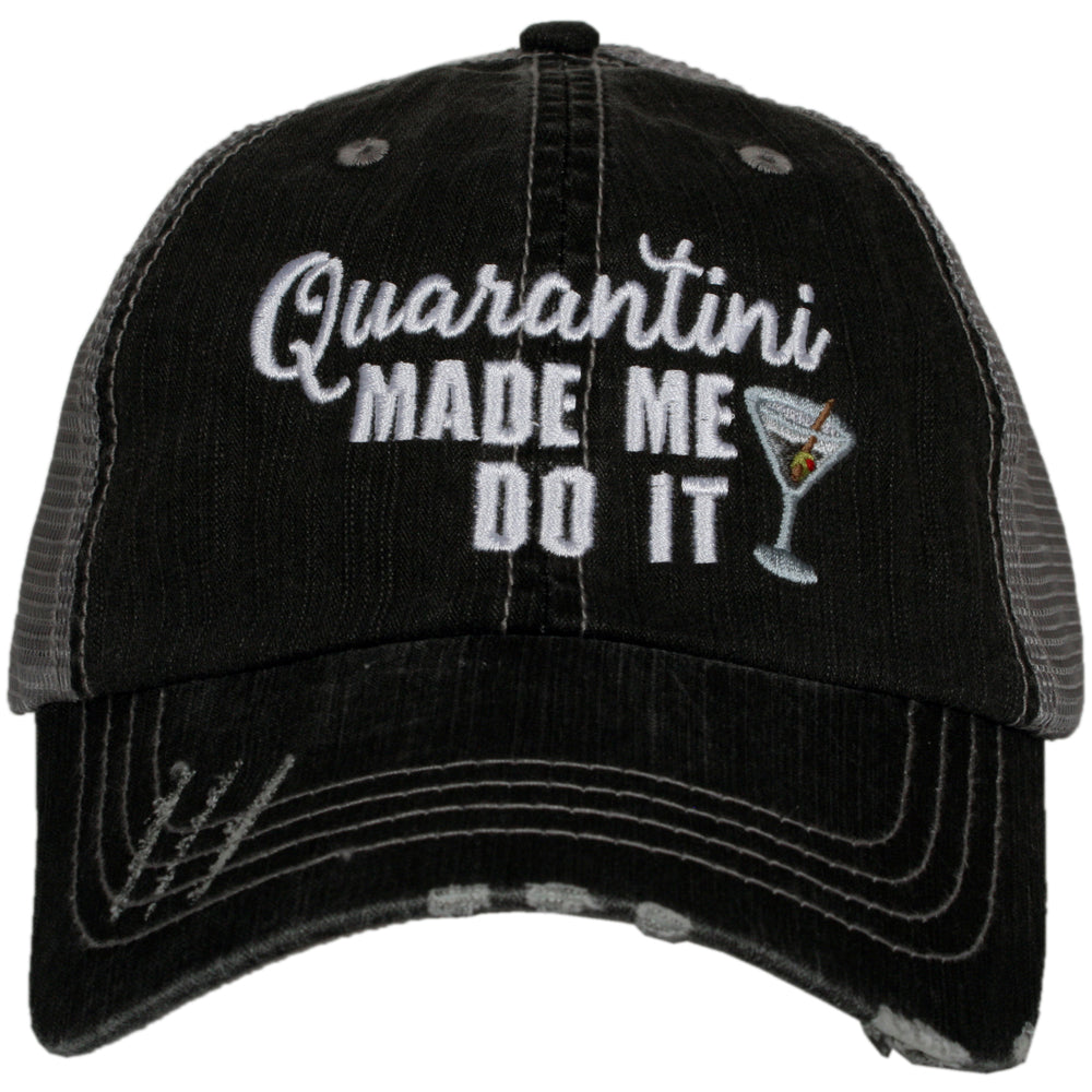 Katydid Quarantini Made Me Do It Wholesale Women's Trucker Hat