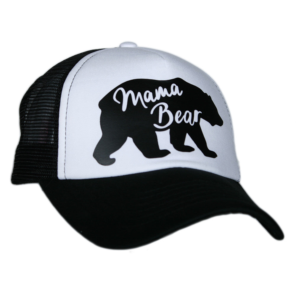 "Katydid Black & White ""Mama Bear"" Wholesale Trucker Hats"