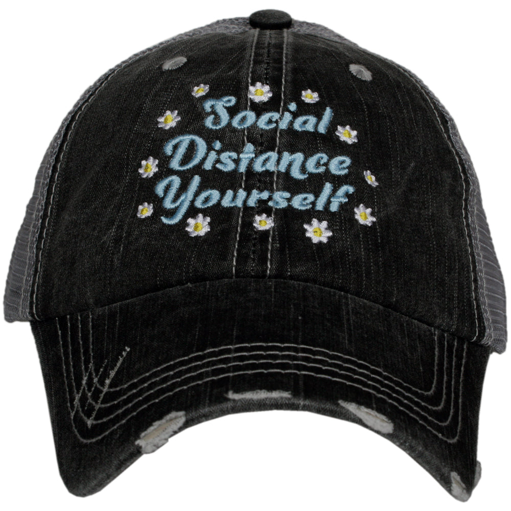 Katydid Social Distance Yourself w/ FLOWERS Wholesale Trucker Hats