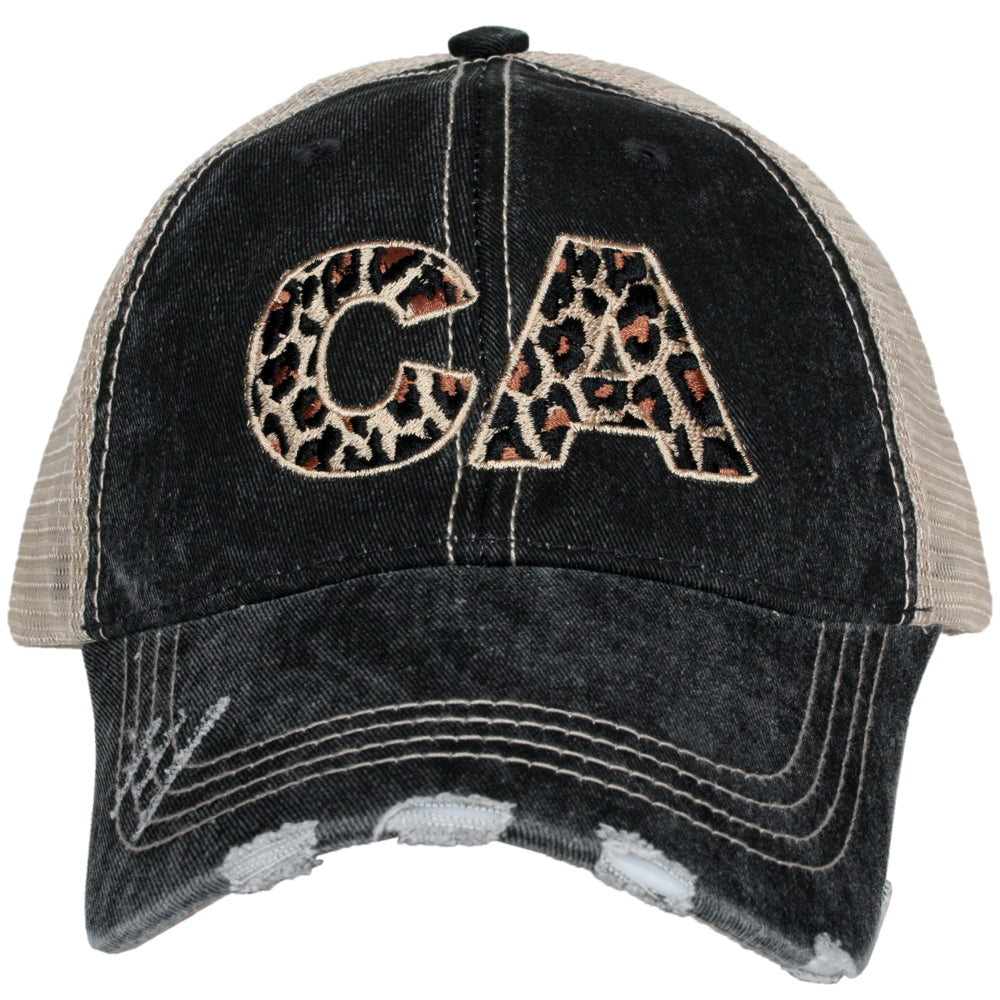 CA California Leopard State Wholesale Hat