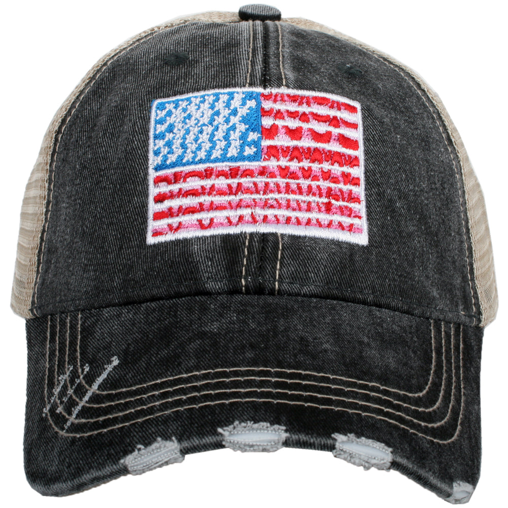 Katydid American Flag Wholesale Women's Trucker Hat