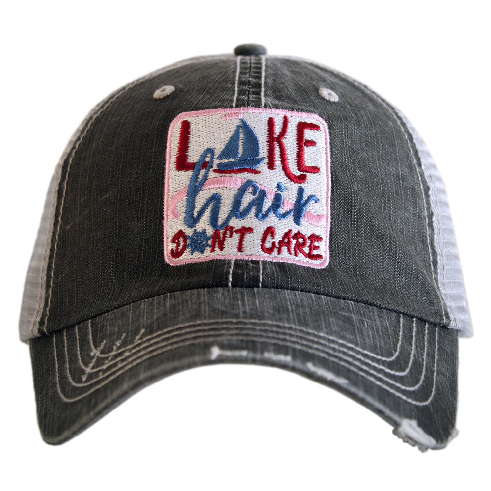 Katydid Lake Hair Sailboat Don't Care Wholesale Women's Caps (Patch)