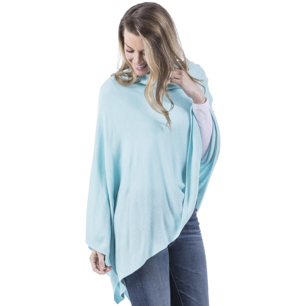 Women's White Poncho