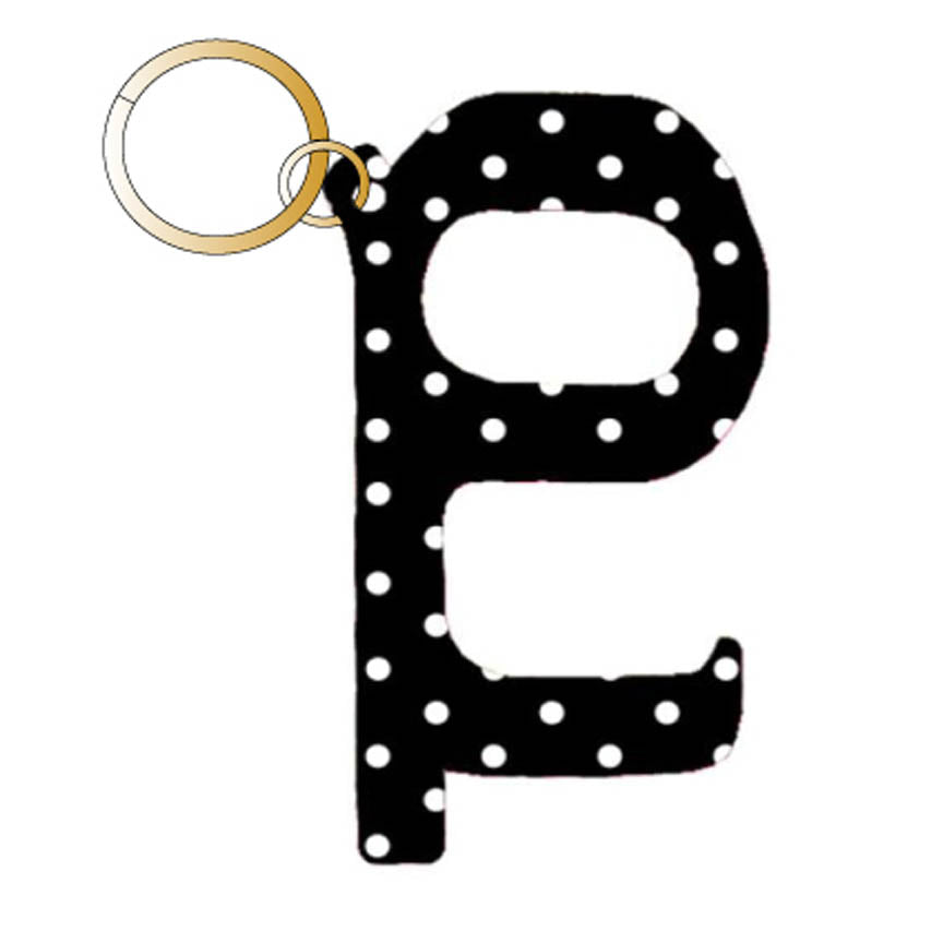 Black Polka Dot Hands Free Wholesale Key Chain