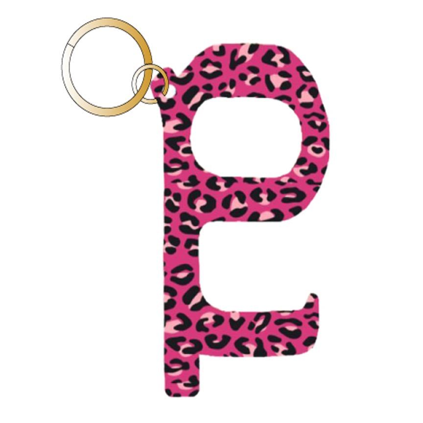 Pink Leopard Hands Free Wholesale Key Chain