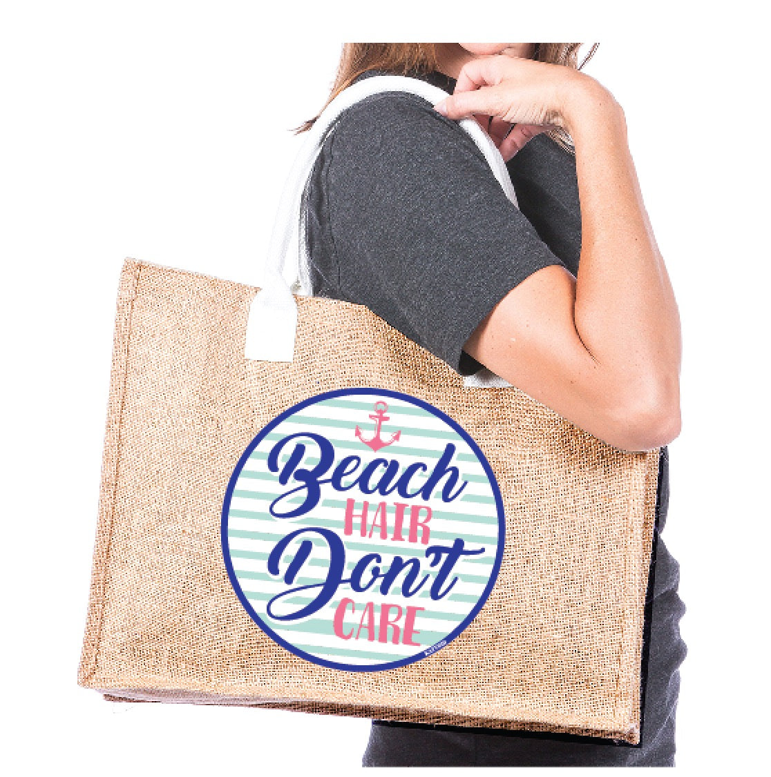 Katydid Beach Hair Don't Care Wholesale Tote Bags