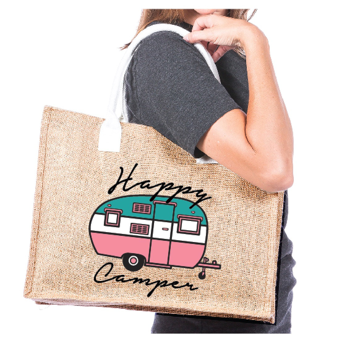 Katydid Happy Camper Wholesale Tote Bags