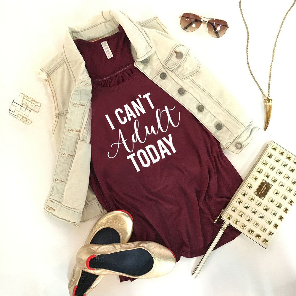 Katydid I Can't Adult Today Wholesale Fashion Tank Tops