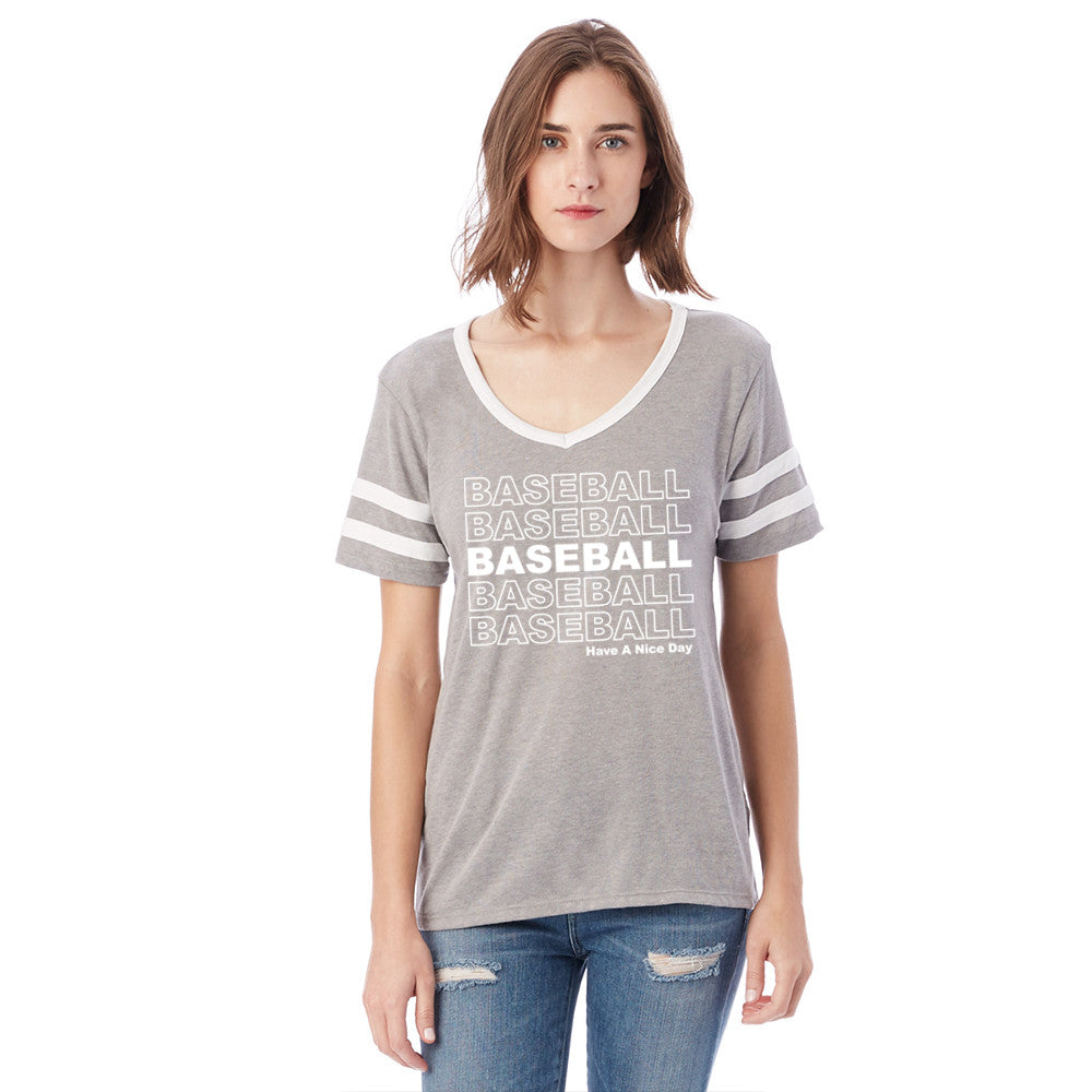 Katydid Baseball Have a Nice Day Wholesale Varsity Tee