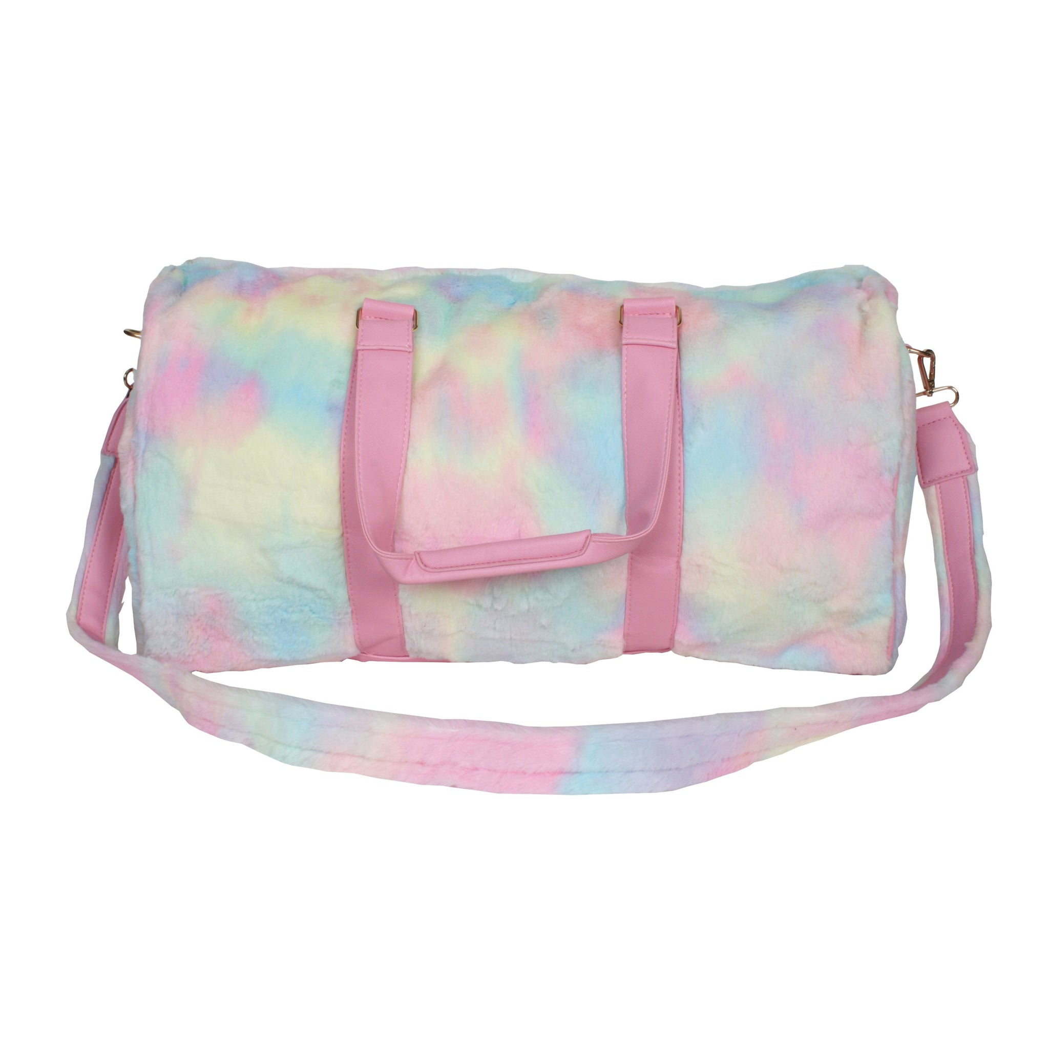Tie Dye Faux Fur Wholesale Weekender Bags