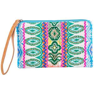Beaded Multicolored Wholesale Wristlet with Leather Strap
