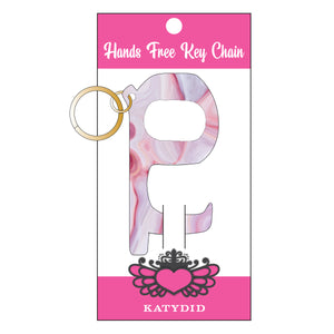 Pink Marble Hands Free Wholesale Key Chain