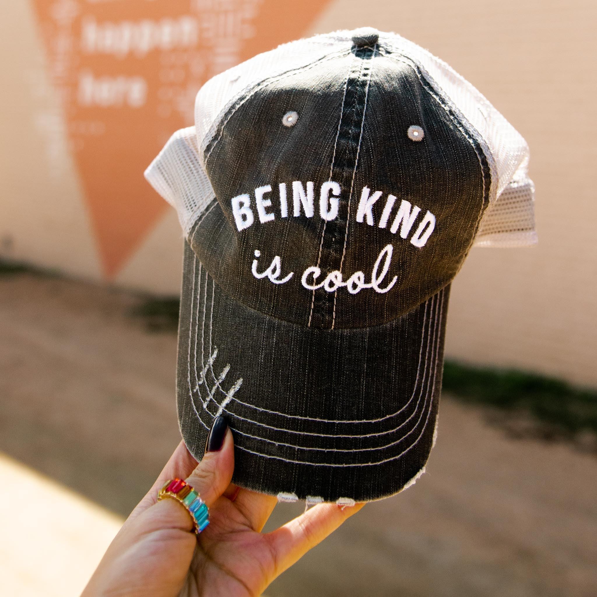 Katydid Being Kind is Cool Women's Trucker Hat
