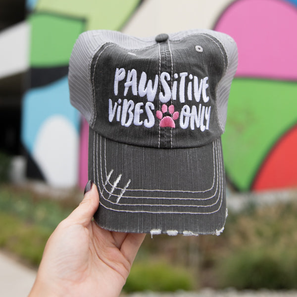 Pawsitive Vibes Only Wholesale Trucker Hats