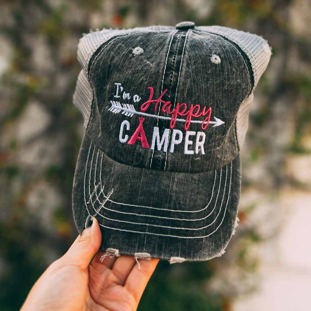 Happy Camper ARROW Trucker KIDS Hats