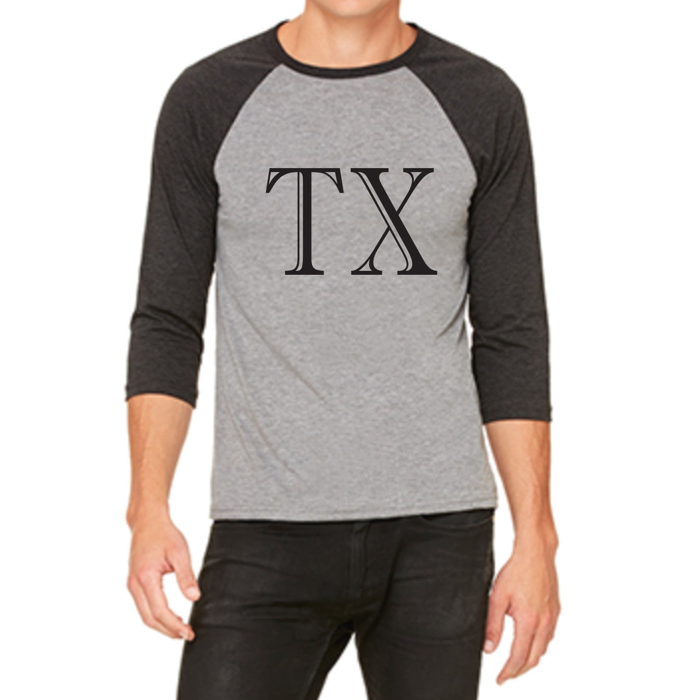 OEM Society Texas Wholesale Men's Raglan Sleeve T-Shirt