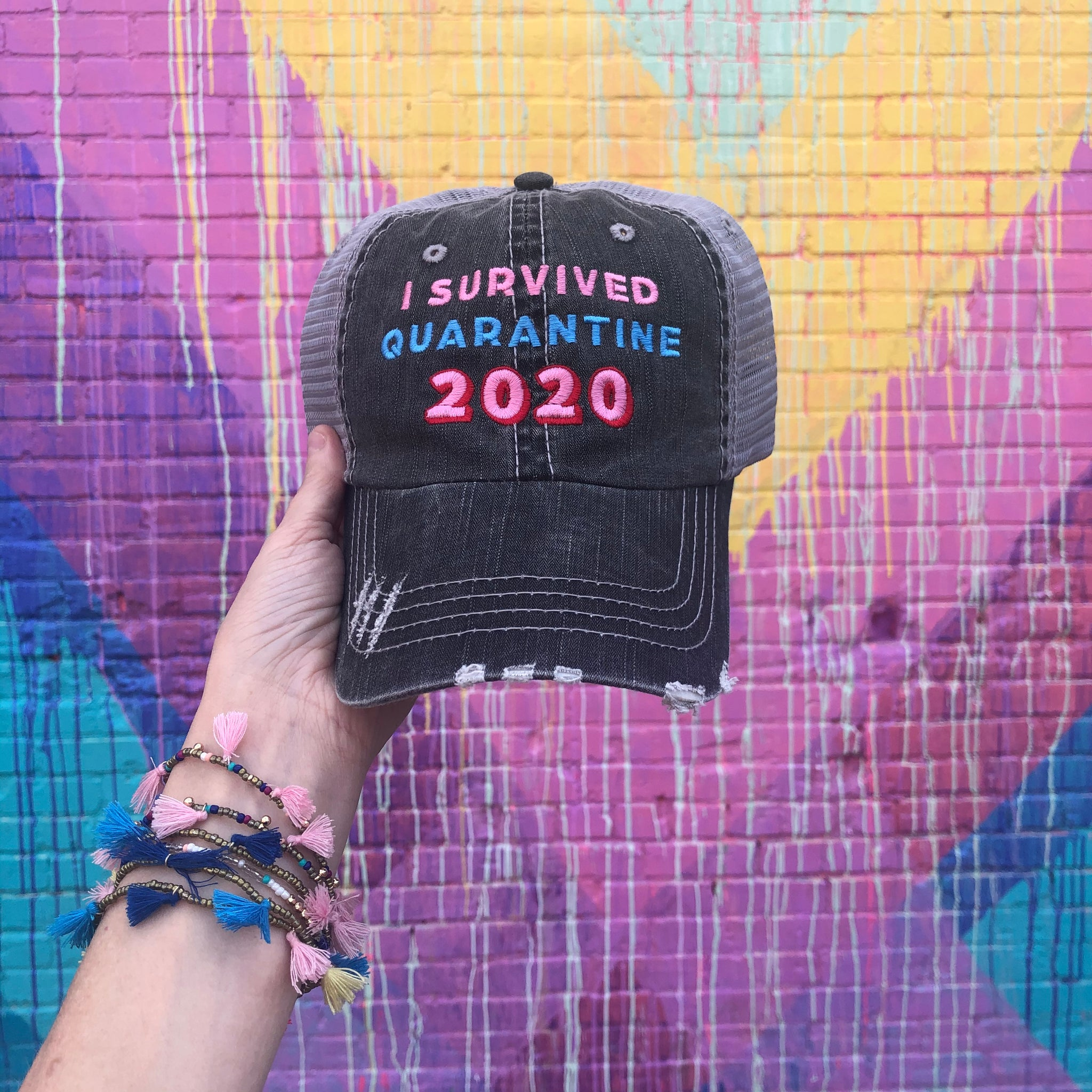 Katydid I Survived Quarantine 2020 Wholesale Trucker Hats