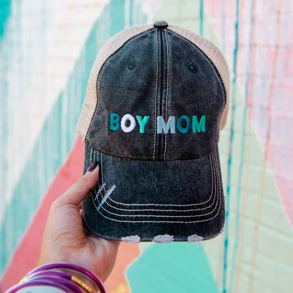 Katydid Boy Mom Wholesale Women's Trucker Hats - Multicolored
