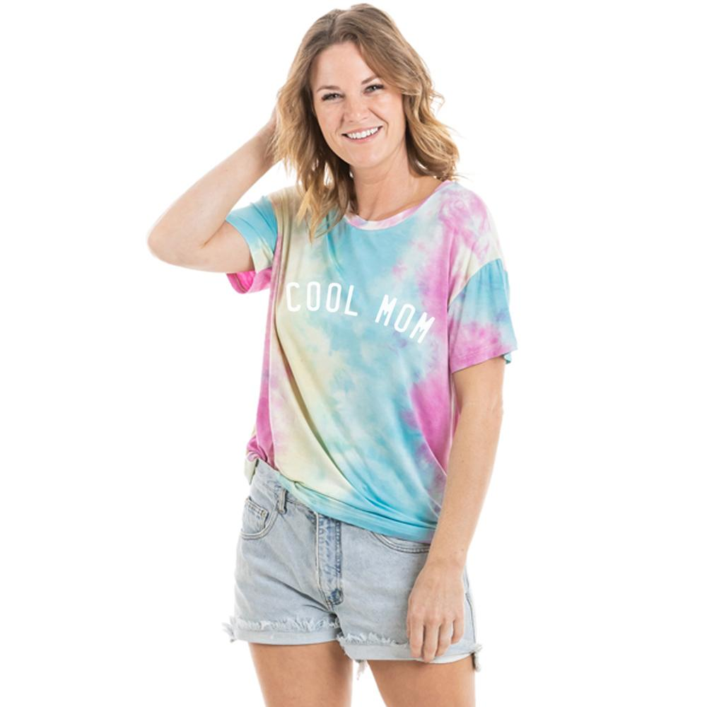 Cool Mom Women's Wholesale Tie Dye Graphic T-Shirt