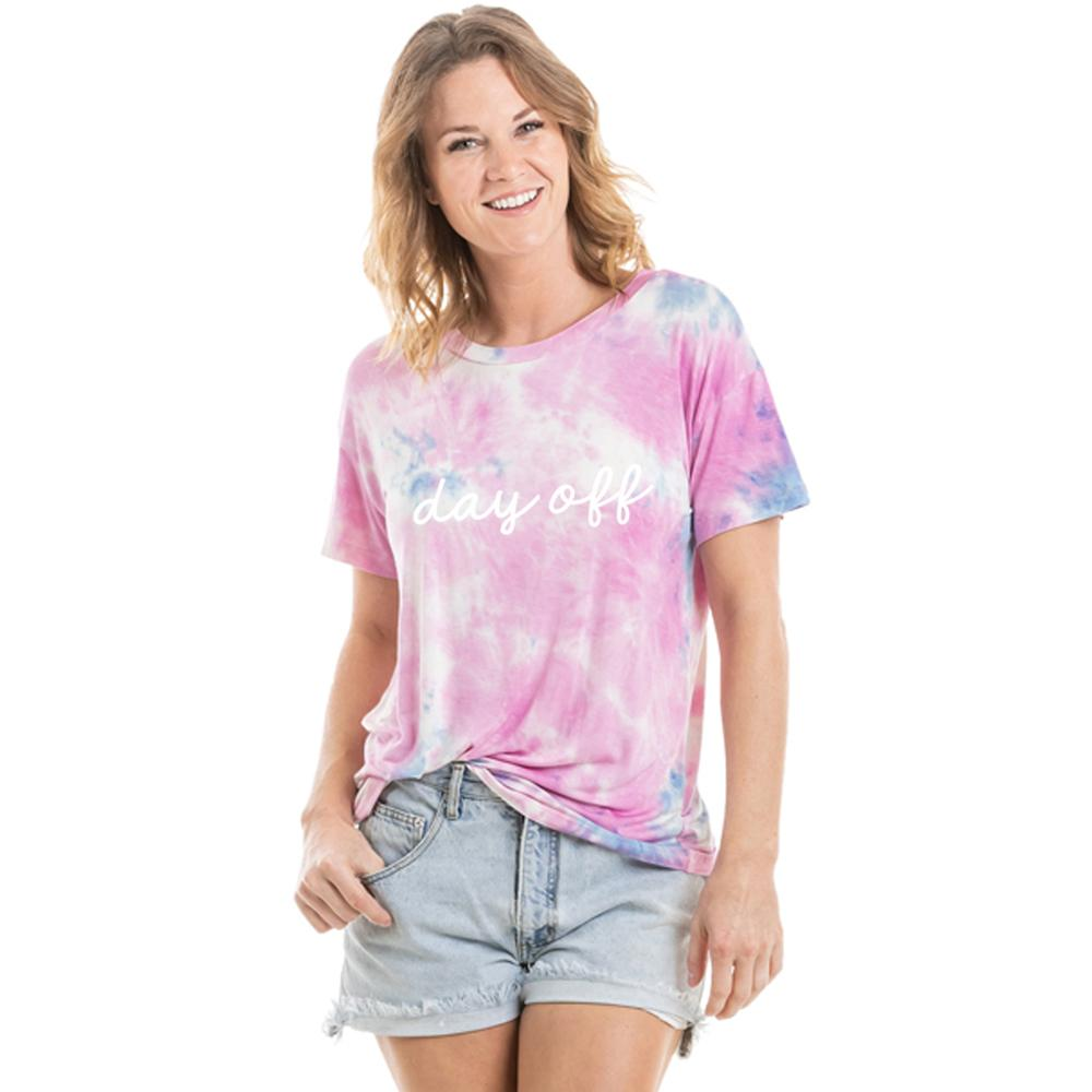Day Off Women's Tie Dye Graphic T-Shirt