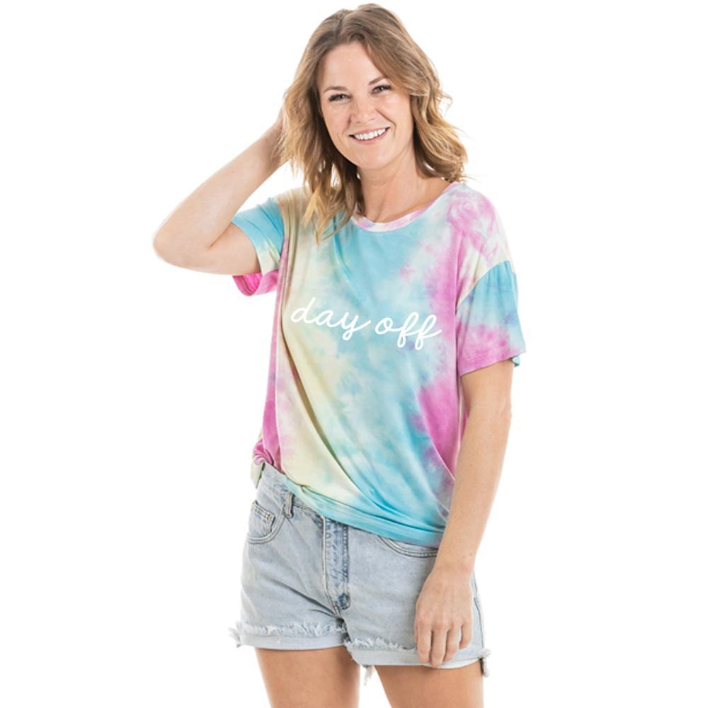 Day Off Women's Wholesale Tie Dye Graphic T-Shirt