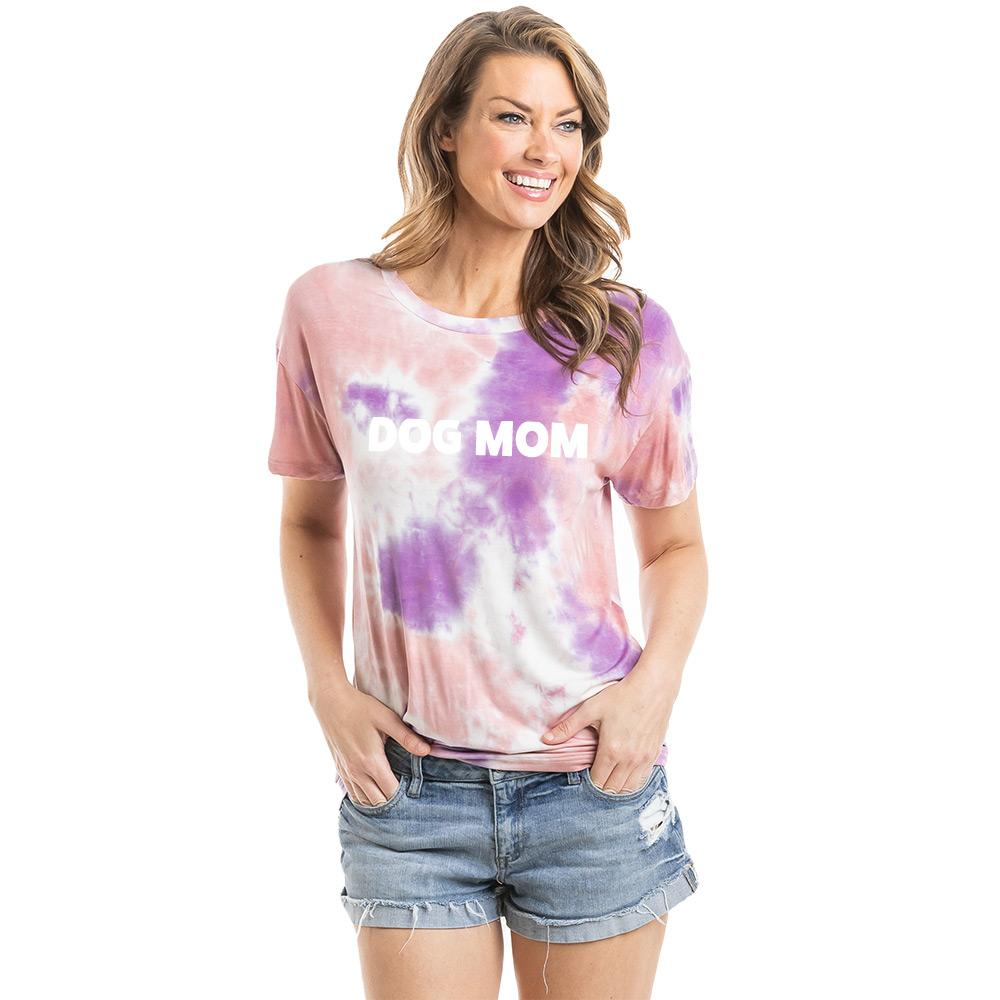Dog Mom Women's Wholesale Tie Dye Graphic T-Shirt