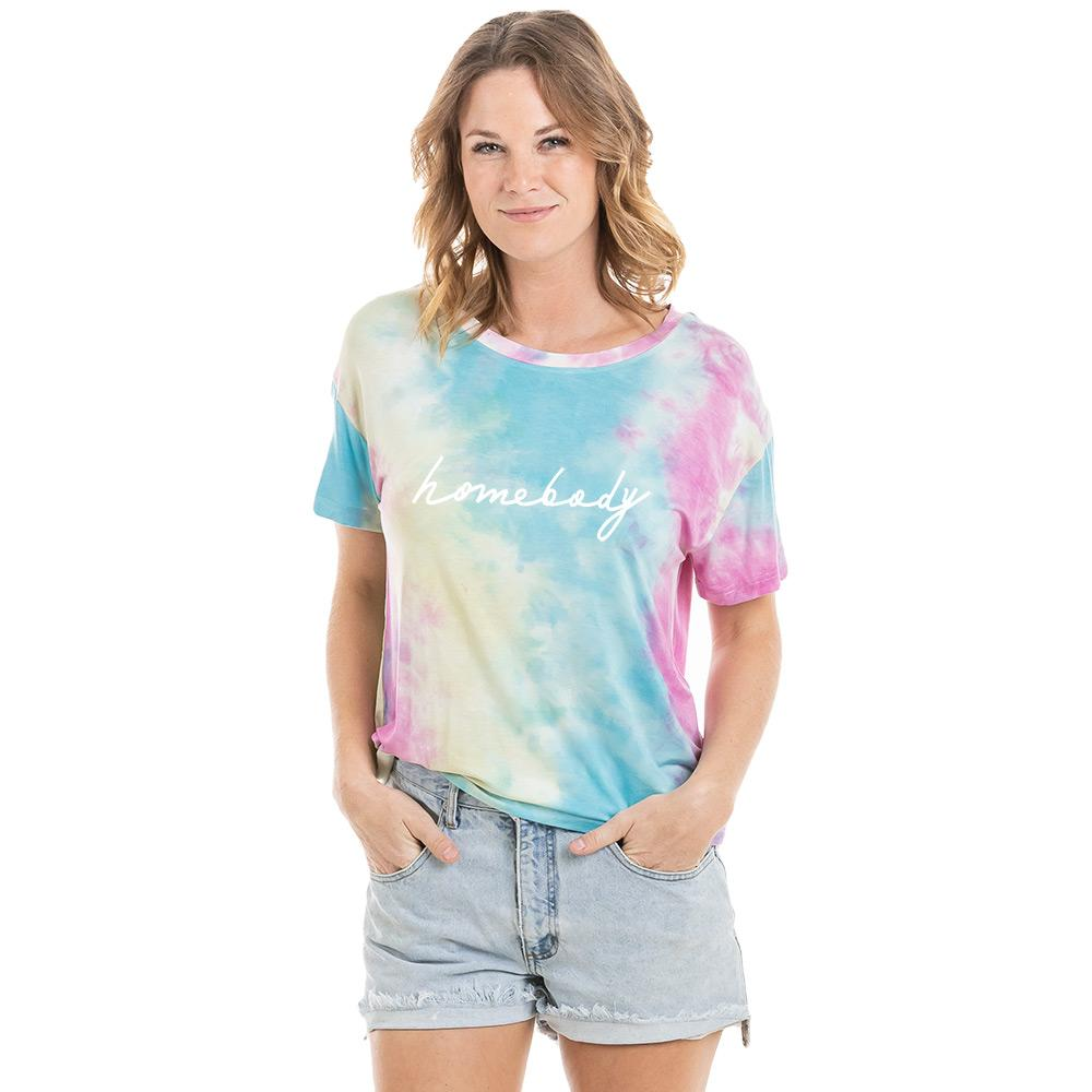 Homebody Women's Wholesale Tie Dye Graphic T-Shirt