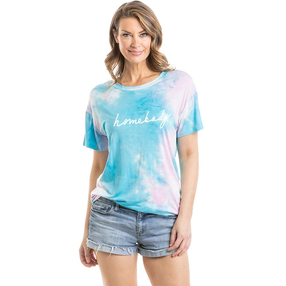 Homebody Women's Tie Dye Graphic T-Shirt