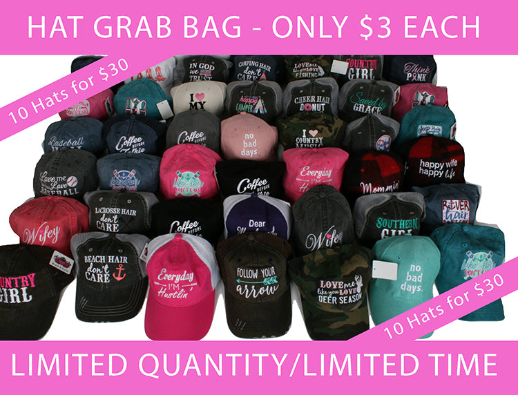 $3 Katydid Hat Blowout - Variety Pack of 10 Hats for Only $30 - LIMITED QUANTITIES