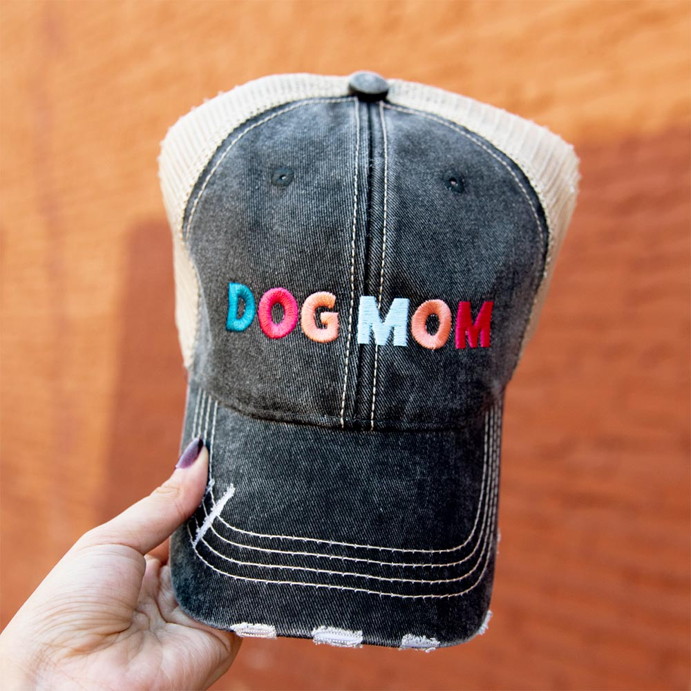 Katydid Dog Mom Wholesale Women's Trucker Hats - Multicolored