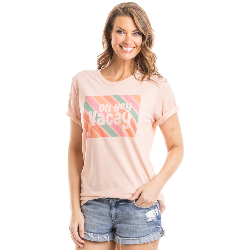 Oh Hey Vacay Multicolored Wholesale Women's T-Shirts