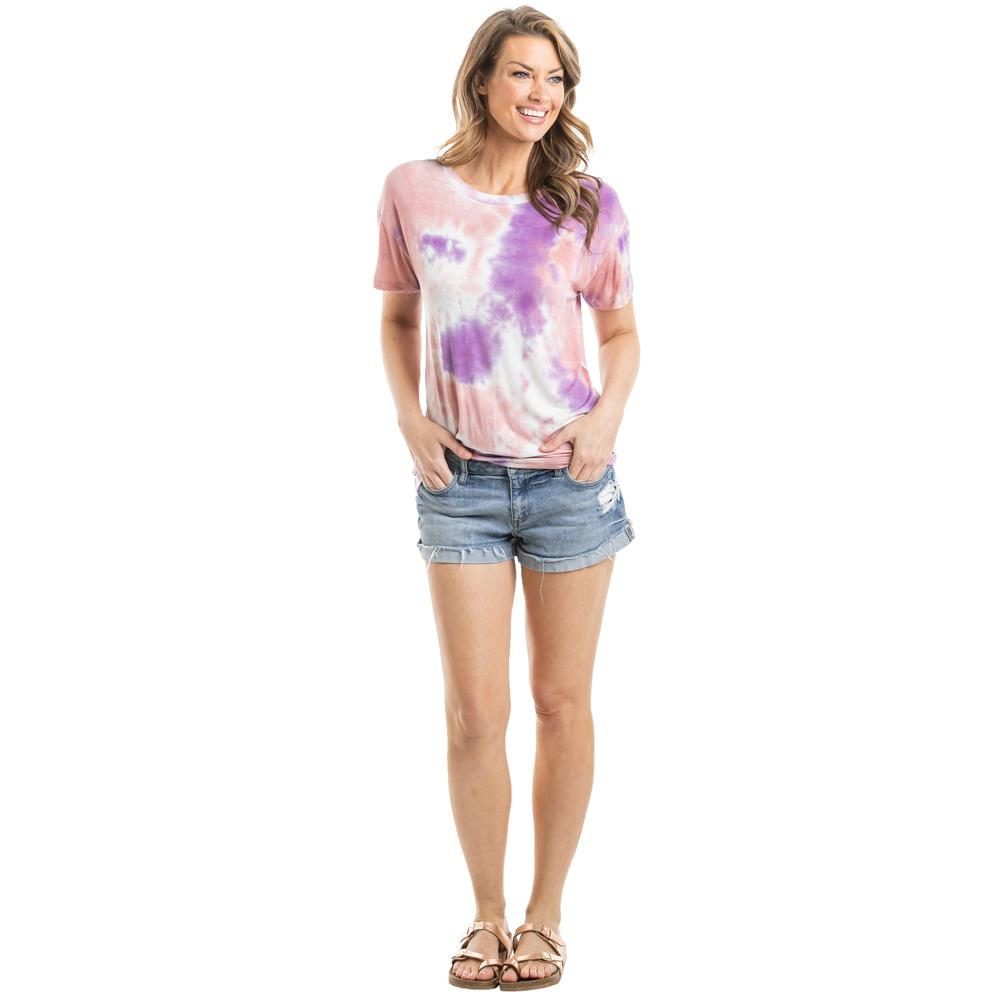 Orange and Purple Wholesale Tie Dye T-Shirt