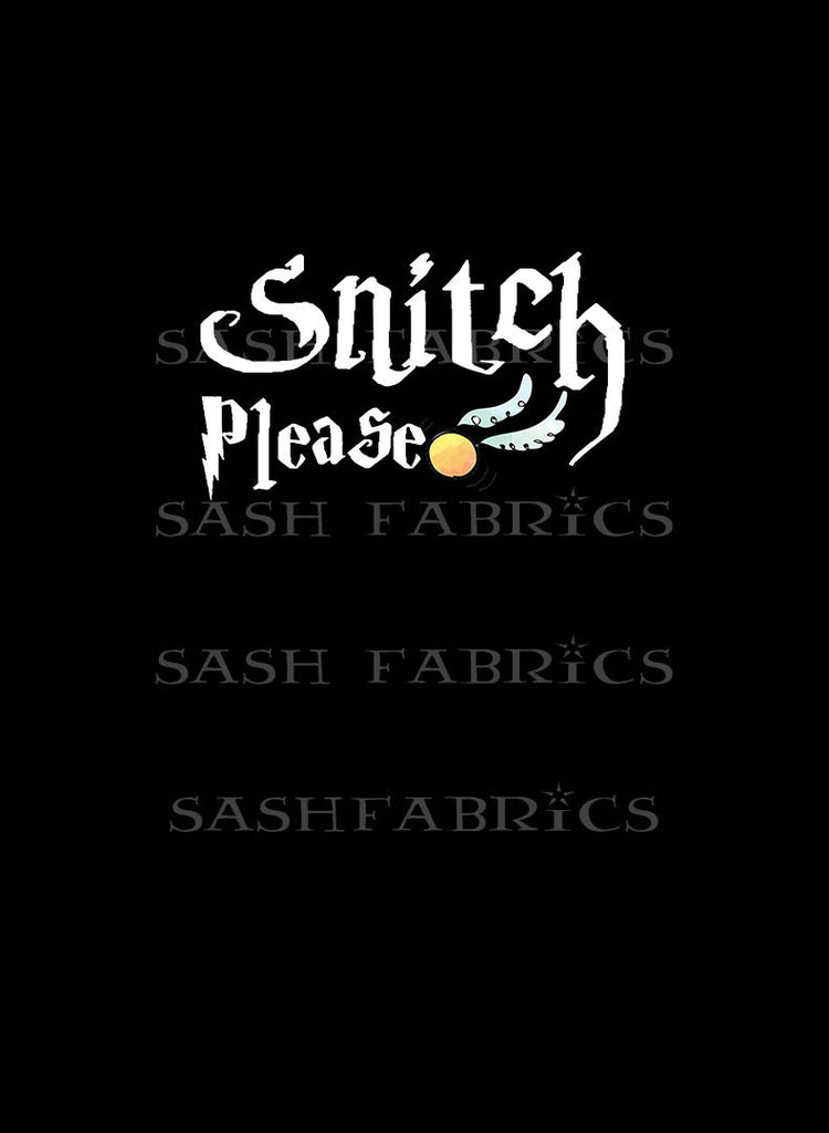 Snitch Adult Panel - Sash Fabrics- Jackie