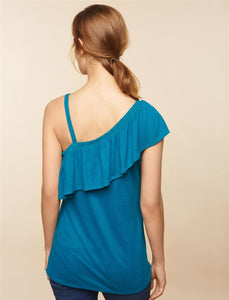 Ruffled One Shoulder Maternity Top