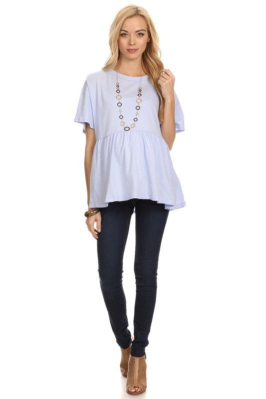Periwinkle Relaxed Maternity Tunic