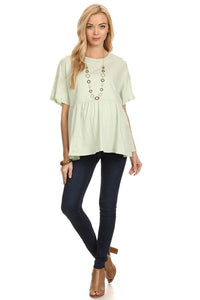 Mint Relaxed Maternity Tunic