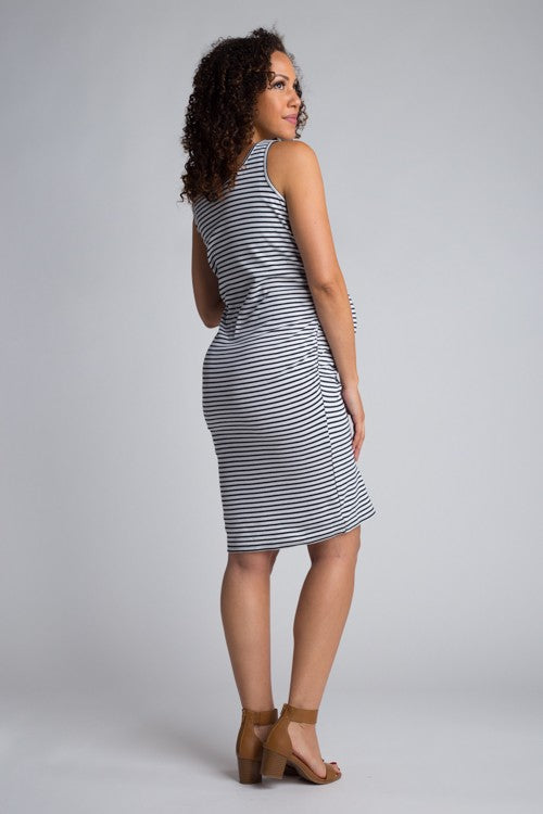 White/Black Striped Bun in the Oven Dress