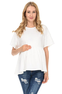 Off White Relaxed Maternity Tunic