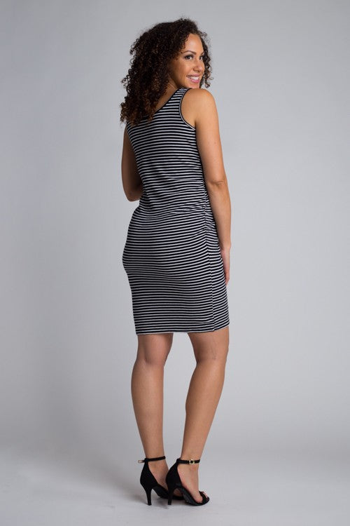 Black/White Striped Bun in the Oven Dress