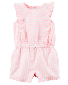 Striped Flutter Romper