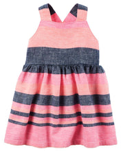 Multi Stripe Criss Cross Dress