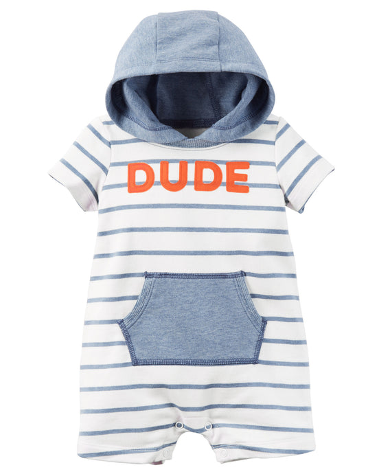 Dude Hooded Romper
