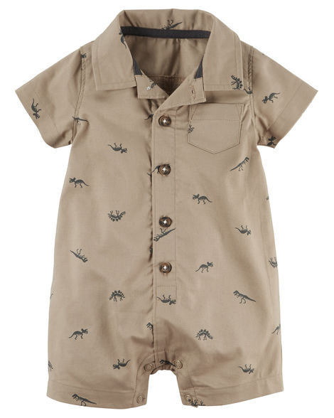 Brown Dino Romper