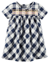 Navy Gingham Dress Set
