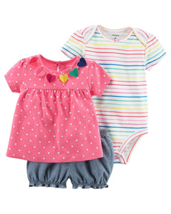 Colorful Hearts 3-Piece Set